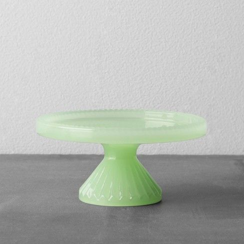 From celebrating birthdays to hosting friends to indulging in dessert after family dinner, you can show off your baking talent in style no matter the occasion with this Cupcake Stand from Hearth & Hand™ with Magnolia. This green dessert stand features a glossy finish and textured accents that give it instant appeal to complete your table setting.<br><br>Celebrate the everyday with Hearth & Hand — created exclusively for Target in collaboration with Magno...