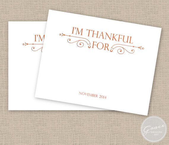 https://www.etsy.com/listing/212623334/thankful-fancy-scrolls-template  Thanksgiving Activity Card, editable, printable, Orange