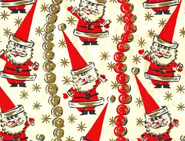 Christmas Wrapping Vintage Funky Santa Paper Giftfunky Santa Wrapping Vintage Christmas Wrapping Paper Christmas Gift Wrap Printable Christmas Ephemera