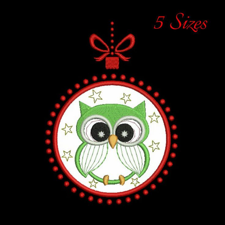 Owl embroidery designs,christmas pattern,owl embroidery,applique design,machine embroidery,digital download by GretaembroideryShop on Etsy