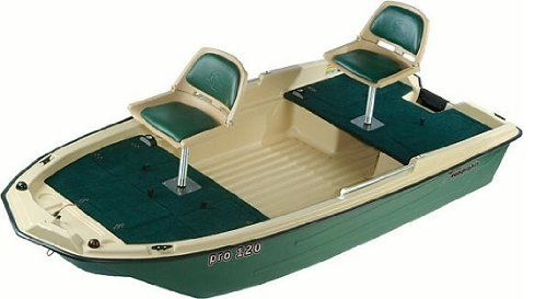 Sun Dolphin Pro 120 Two Seat 11'3″ Fishing Boat W/ Trolling Motor Mount | Small Fishing Boats