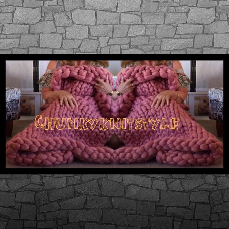#chunkyknitstyle & face book ! Customer orders taken. Australian Merino Wool blankets and throws.