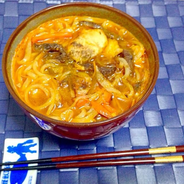 カレー風味の牛肉・鶏胸肉の生姜ソテーをトッピング - 74件のもぐもぐ - 蒸し鶏の出しと無添加の野菜ジュースで作った洋風稲庭うどん by taroumasaydyZ