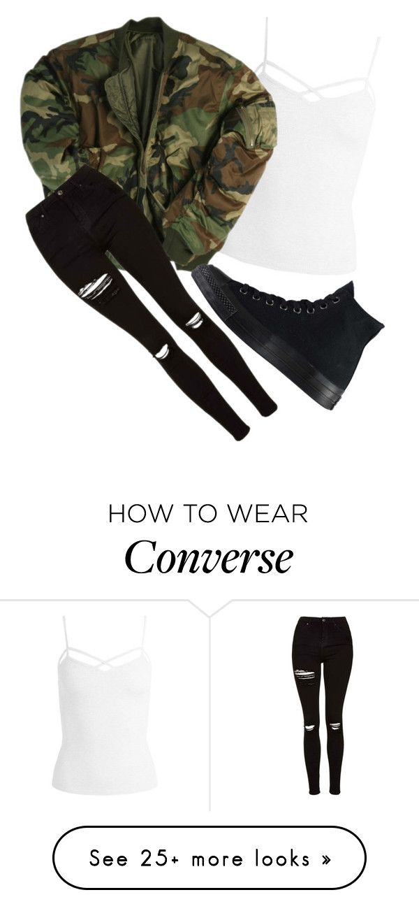 """"""""""" by sydthekyd01 on Polyvore featuring Sans Souci, Topshop and Converse"""