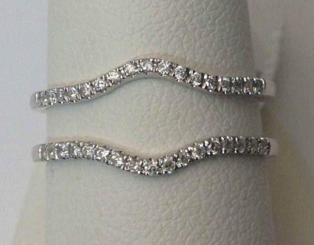 White Gold Solitaire Enhancer Ring Guard Wrap (0.50ct. tw)- RG321512360824… #gold #diamonds #ringguard #wrap #enhancer #fashion #jewelery #love #gift #ringjacket #engagement #wedding #bridal #engaged #whitegold #yellowgold #online #shopping #jewelry #pintrest #richmondgoldanddiamonds