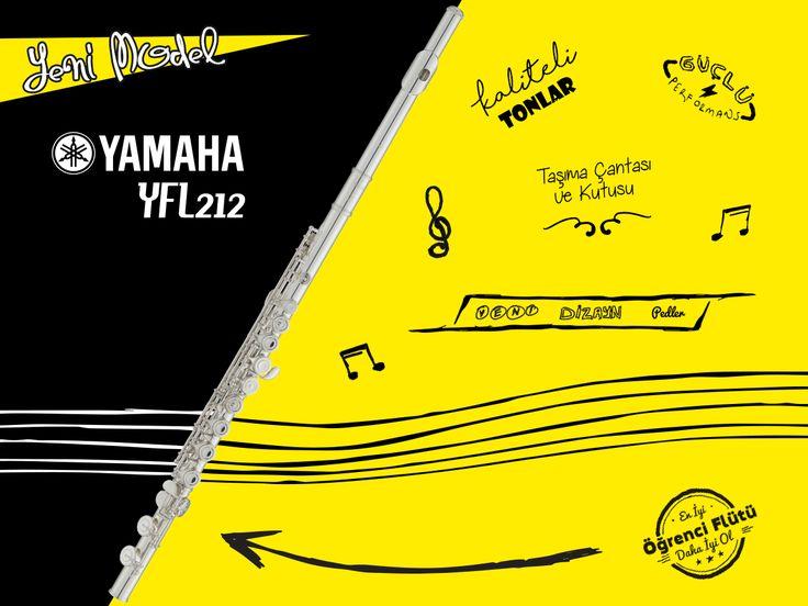 YENİ MODEL | Yamaha YFL-212 Yan Flüt *Yeni başlayanlar ve öğrenciler için tavsiye edilir. 🌟  http://www.1enstruman.com/yamaha-yfl212-yan-flut