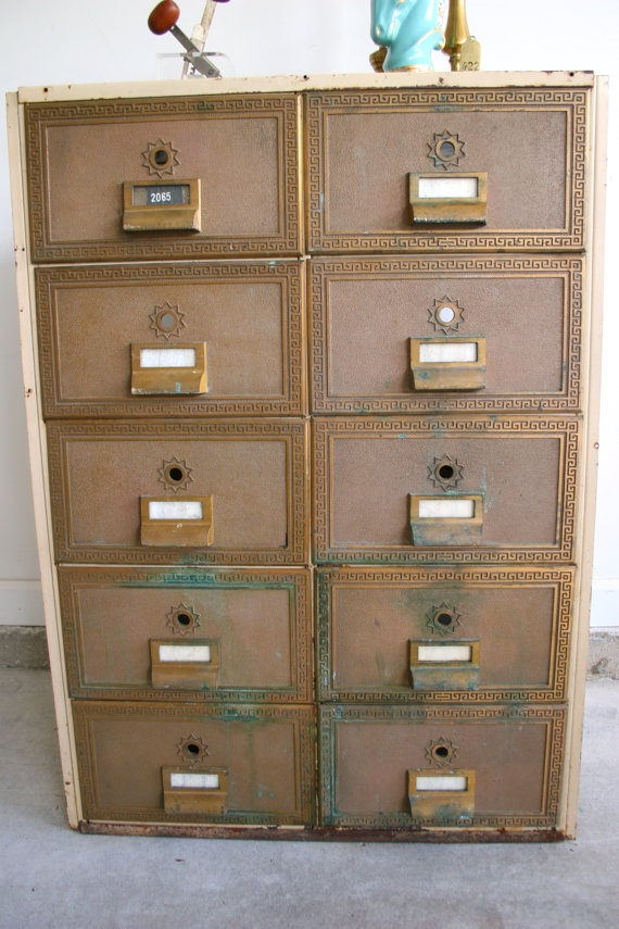Industrial Mailbox File Cabinet.