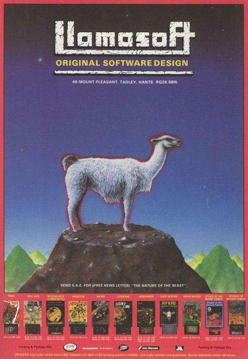 TV Game • Jeff Minter's Llamasoft, 1984