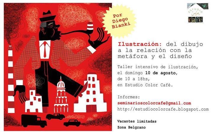 """Taller de ilustración: """"Del dibujo a la relación con la metáfora y el diseño"""". Por Gabriela Mariel Arias."""
