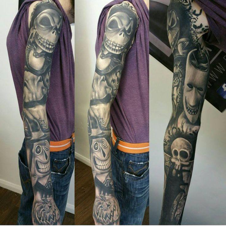 Badass Sleeve By Richard Artist Guy Tattoos Pinterest