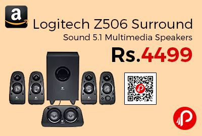 Amazon #LightningDeal is offering 55% off on Logitech Z506 Surround Sound 5.1 Multimedia Speakers at Rs.4499 Only. Fill the room with 75 watts (RMS) of power-and rattle a few windows while you're at it, You've got the flexibility to set up your system the way you want to. Connect your PC, PS3TM, Xbox 360 ®, Wii ®, iPod ®, DVD player, and more, Deep bass brings your music, movies ...  http://www.paisebachaoindia.com/logitech-z506-surround-sound-5-1-multimedia-speakers-at-rs-4499-amazon/