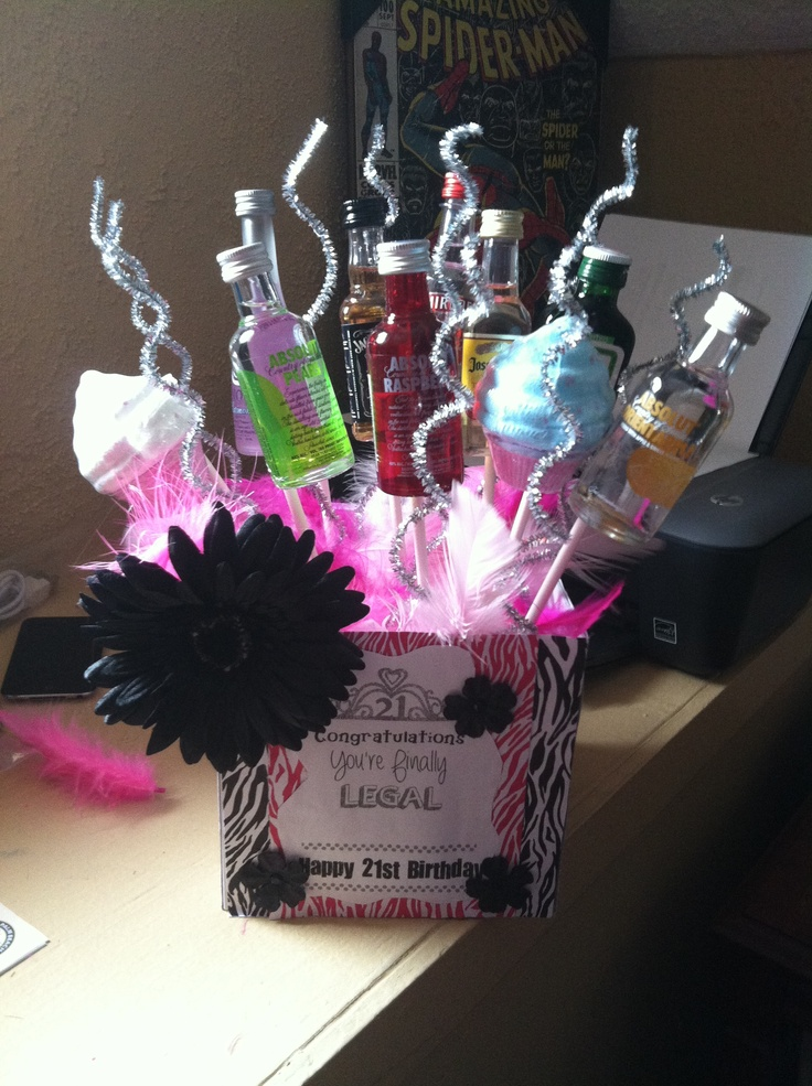 21st birthday ! This is where I got my idea from for my daughters basket that I made
