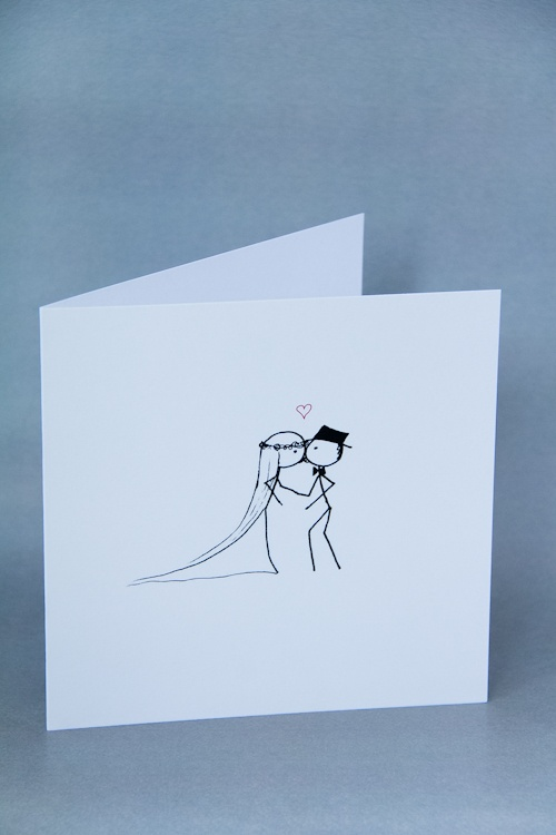 Stickman Wedding Card | Congratulations Card | You May Now Kiss the Bride