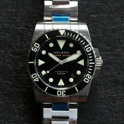Helson Shark Diver. 40mm case.