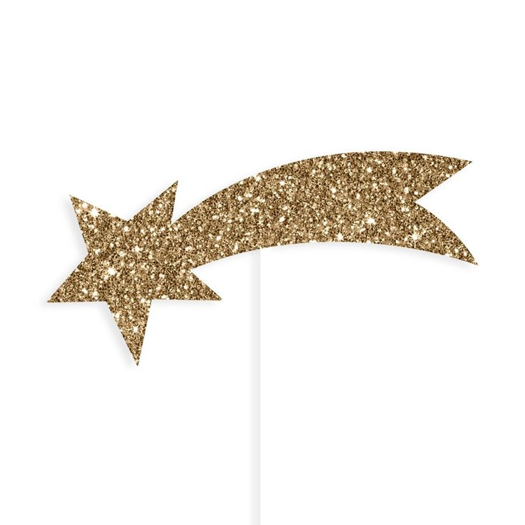Gold Shooting Star Cake Toppers – Lucky Lulu Party Shop