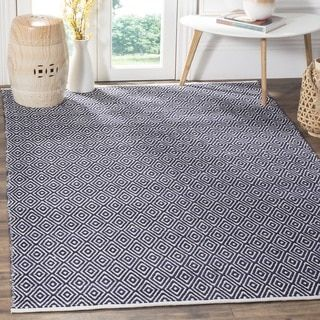 Shop for Safavieh Handmade Boston Navy Cotton Rug (5' x 8'). Get free shipping at Overstock.com - Your Online Home Decor Outlet Store! Get 5% in rewards with Club O!