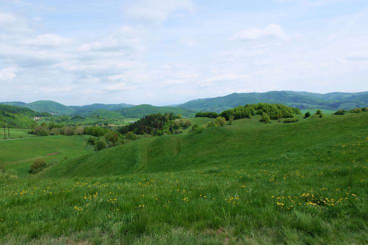 Výhľad na krajinu od kalvárie