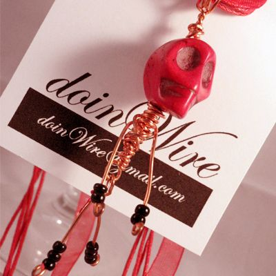 DOW99-doinWire Skull Pendant Red https://www.facebook.com/pages/Doinwire/674536245909901