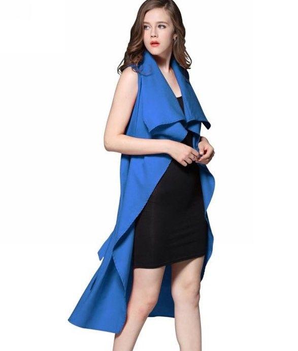 Shalena Waterfall Drape Open Front Sleeveless Cardigan Trench Coat http://shalena.ca #women #fashion #onlineshopping #dresses #shoes #coat #love #life #american #canadian #australia #newzealand #uk #england #france #germany #spain  #latestfashion #beautiful #happy #pretty #colorful #sweet #bestquality #shopping #womenfashion  #followforfollow #follow4follow #f4f #ifollowbackalways