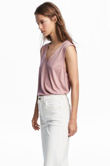 L2017 Top z lyocellu - Różowy - ONA | H&M PL 1