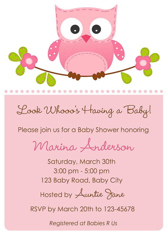 owl template baby collection shower invitations best