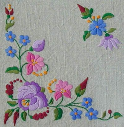 """Hungarian Kalocscai embroidery, """"sad"""" colors"""