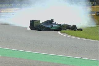 Blog Esportivo do Suíço:  Nico leva susto com pneu furado, mas mantém domínio no 2º treino em Spa