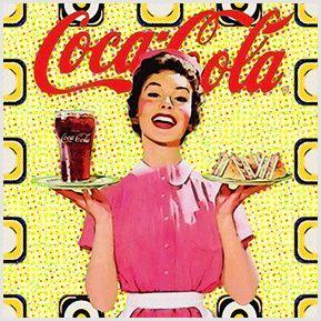 Quadrinhos em Azulejos - Vintage - coleção coca-cola. Quadrinhos confeccionados em Azulejo no tamanho 15x15 cm.Tem um ganchinho no verso para fixar na parede. Inspirados em propagandas antigas. Para entrar em contato conosco, acesse: www.babadocerto.com.br