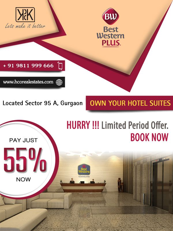 #KPDKBestWesternTownsuites Grand investment time, Secured Hotels Available in Top notch Location. For More Info:- https://goo.gl/RuC582