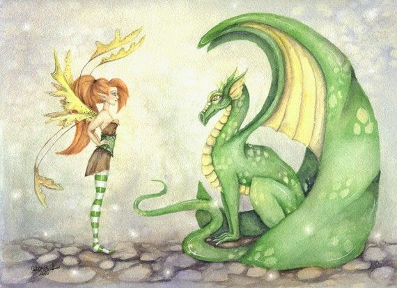 Fantasy Art Original Watercolor Painting