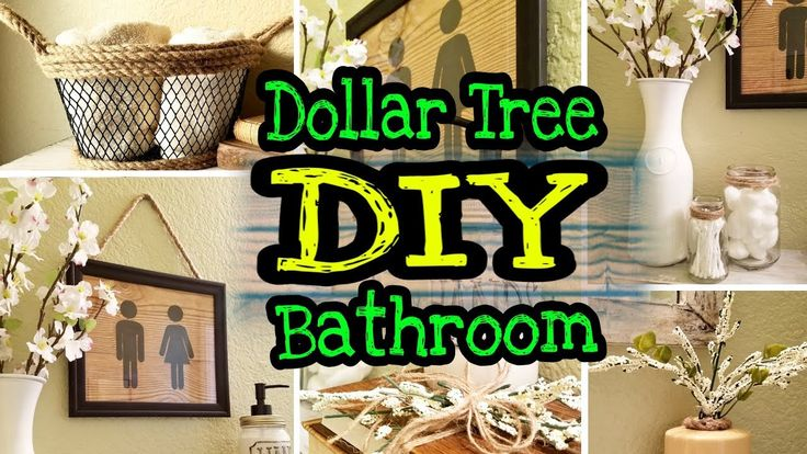 Dollar Tree Farmhouse DIY Bathroom Decor – YouTube