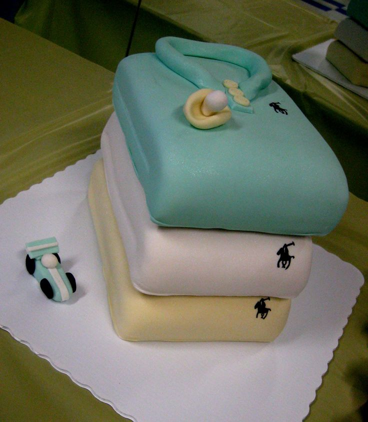 Ralph Lauren Baby Shower Theme | They ordered TWO stacked shirt cakes and cupcakes with polo onesie ...