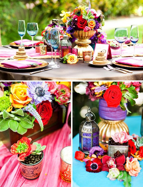 Indian themed engagement party... i love the colors!!! romantic and cute at the same time