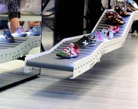 Assembly Line Stores - The Munich 'La Rocha' Shoe Shop is a Series of Conveyor Belts (GALLERY)