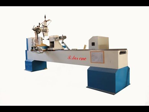 2019 的 3m cnc wood turning lathe with servo motor for large