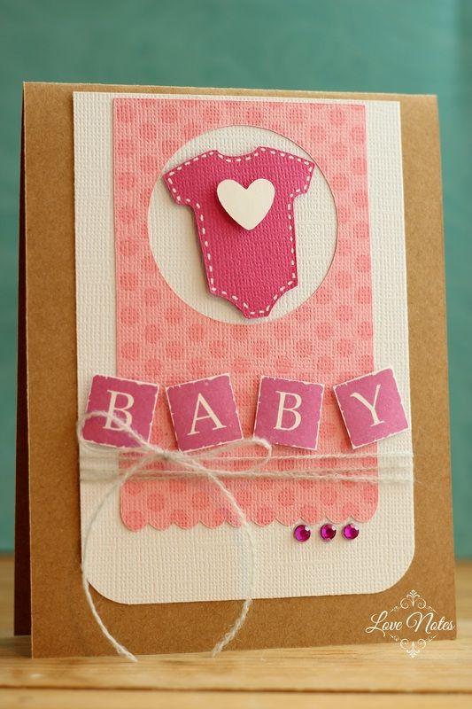 Handmade card for baby girl