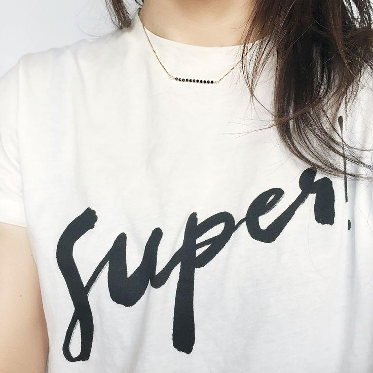 Thursday Super mood & ISHWARA skinny necklace // Shop online www.ishwarajewels.com #ishwarajewels #pe16collection #fashionblogger #sincerelyjules #shopsincerelyjules @shop_sincerelyjules #jewelry #fashion #thursday #lovejewellery #gioielli #italiandesign #handcrafted #handmadejewelry #italia #14gf #gf14 #gold