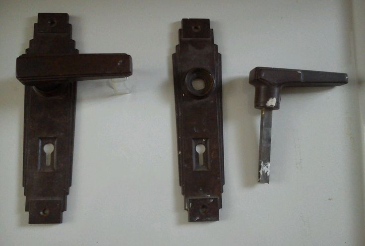 1960 39 s bakelite door handles art deco one set ebay my for 1930s interior door handles