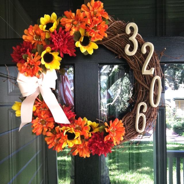Diy Autumn Wreath For The Front Door Diy Pinterest