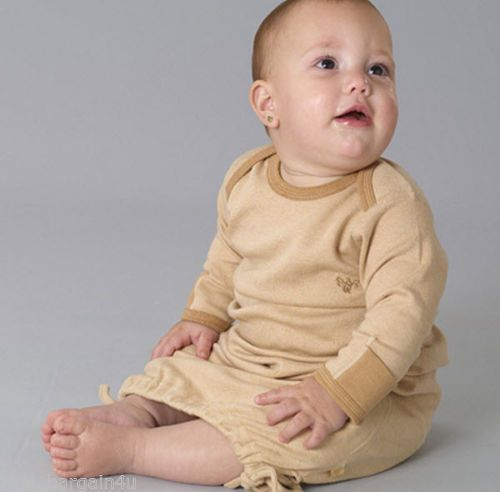 Newborn-0-3M-3-6M-Baby-Gown-Baby-Clothing-Organic-Long-Slv-Boy-Girl-B-nature