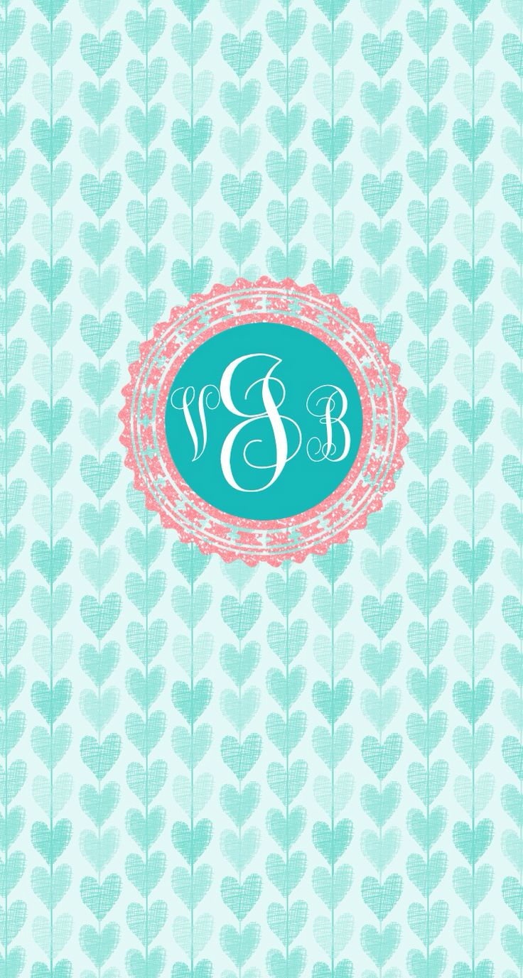 Personalized monogram background for your phone! So cute