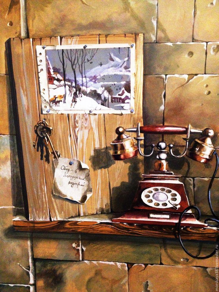 Купить роспись стен в кухне - столовой - гостинной - роспись стен, фреска, художественная роспись