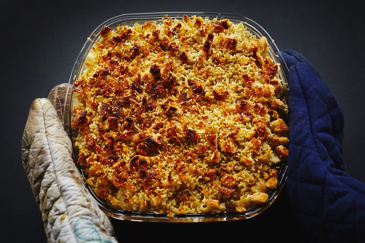 this was a winner! will definitely be making this again. chantrelle + roasted garlic mac & cheese