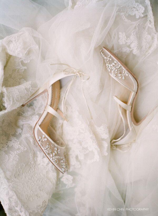Crystal Beaded Wedding Heels