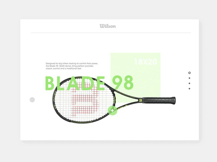 Tennis product catalog (concept/pitch)