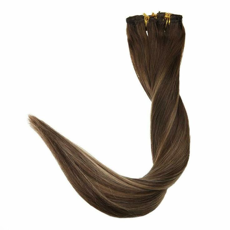 Full Shine Double Weft Clip in Remy Human Hair Ext…