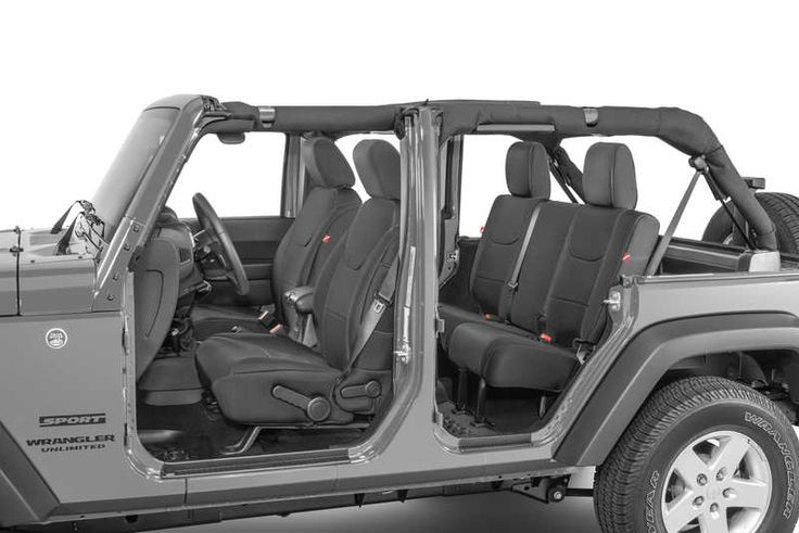 Neoprene Seat Covers - Black or Grey and Black  https://www.quadratec.com/p/quadratec/diver-down-neoprene-seat-covers-07-17-wrangler-unlimited-jk
