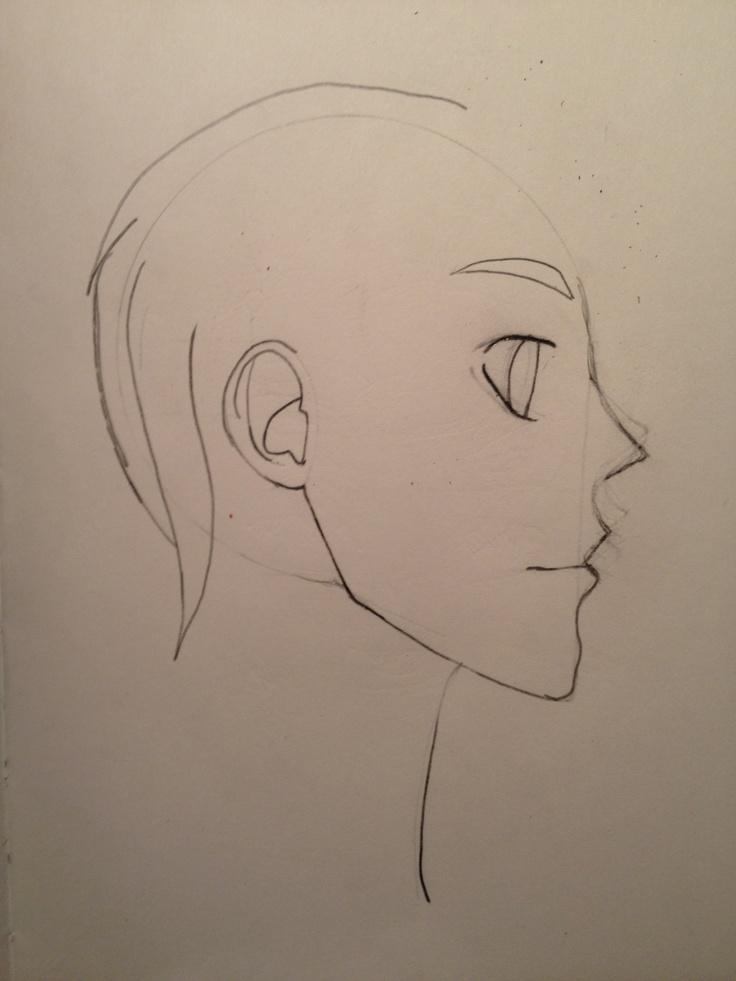 Skisse - Manga boy profile