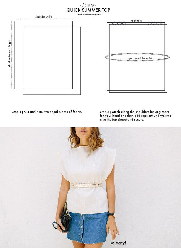 une première couture un top d'été super facile à faire c'est juste 2 rectangles, tuto gratuit, explications pas à pas avec détails en image pour débuter en couture