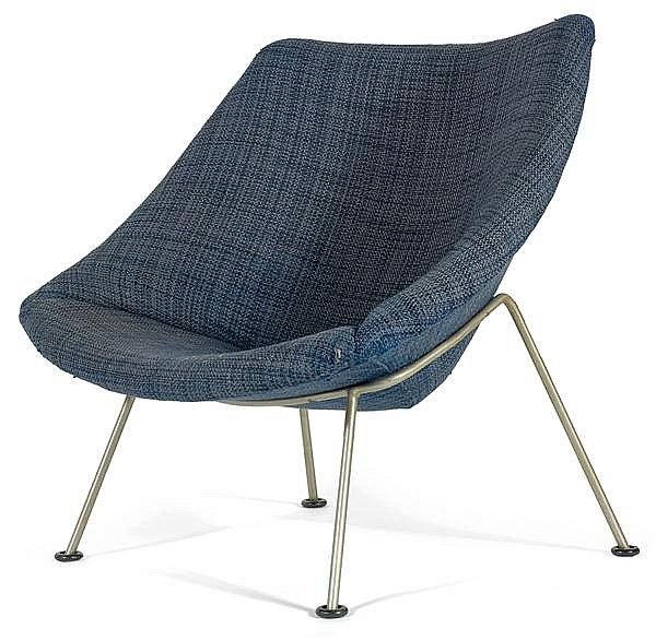 Pierre Paulin; 'Oyster' Chair for Artifort, 1958.